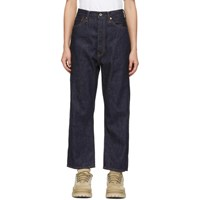 Chimala Navy Wide Tapered Selvedge Jeans