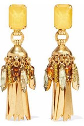 Elizabeth Cole Gold Plated Crystal Earrings Gold