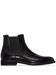 Hugo Boss Black Leather Chelsea Boots 60