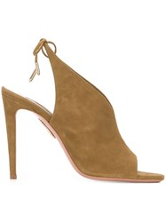 Aquazzura Open Toe Sandals Nude And Neutrals