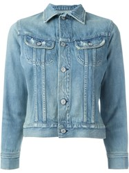 Citizens Of Humanity Cropped Denim Jacket Blue