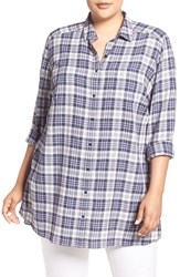 Caslonr Plus Size Women's Caslon Plaid Tunic Shirt