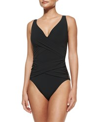Shan Serena Solid One Piece Swimsuit Women's Caviar