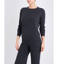 Madeleine Thompson Elliot Knitted Cashmere Jumper Charcoal