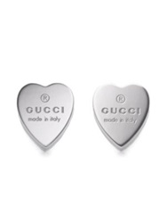 Gucci Sterling Silver Heart Earrings No Color