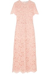Ganni Duval Corded Lace Maxi Dress Pastel Pink
