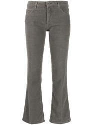Haikure Flared Cropped Trousers Grey