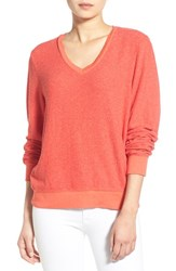 Wildfox Couture Women's Wildfox V Neck Pullover Holiday Red