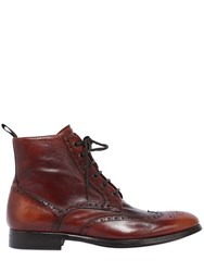 Rolando Sturlini Wing Tip Washed Leather Boots