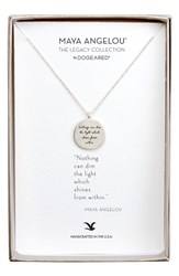 Dogeared Women's 'Legacy Collection Nothing Can Dim The Light' Pendant Necklace Silver