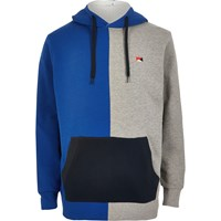 River Island Jack And Jones Blue Colour Block Hoodie
