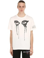 Haculla Moody Eyes Cotton Jersey T Shirt White
