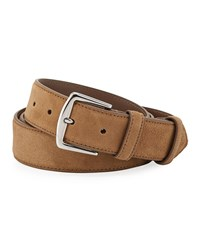 Loro Piana Alsavel Suede Belt Taupe