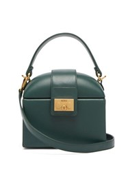 Rodo Trunk Leather Cross Body Bag Green