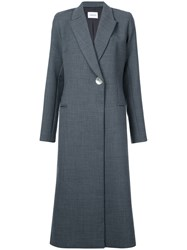 Georgia Alice Blazer Coat Women Polyester Spandex Elastane Virgin Wool 10 Grey