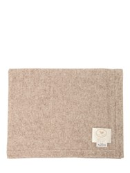 Mazzoni Livia Wool And Cashmere Blend Throw Beige