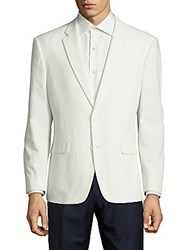 Tommy Hilfiger Seersucker Classic Fit Cotton Sportcoat White