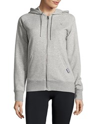 New Balance Heathered Zip Up Hoodie Athletic Grey