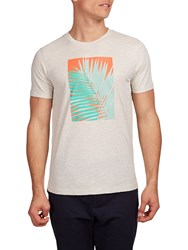 Hymn Penzance Tropical Graphic T Shirt Off White