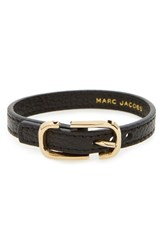 Marc By Marc Jacobs Women's Icon Leather Bracelet Black