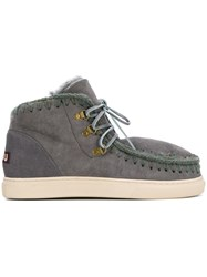 Mou Lace Up Eskimo Boots Grey