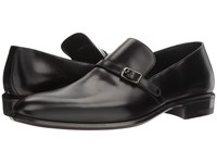 A. Testoni Lux Calf Slip On Loafer Black Men's Slip On Shoes