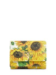 Dolce And Gabbana Girasoli Printed Leather Wallet