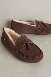 Anthropologie Australia Luxe Collective Patrese Moccasin Slippers Brown 8 Lounge