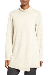 Eileen Fisher Women's Lush Wool Blend Front Overlay Turtleneck