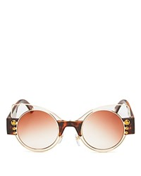 Marc Jacobs Round Cat Eye Sunglasses 49Mm Brown Brown Gradient Lens