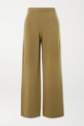 Joseph Wool Wide Leg Pants Army Green