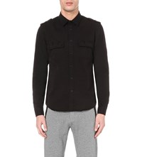 The Kooples Slim Fit Stretch Denim Shirt Black