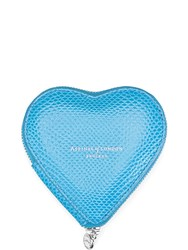 Aspinal Of London Heart Coin Purse Blue