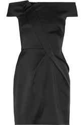 Roland Mouret Herland Off The Shoulder Double Faced Satin Mini Dress Black