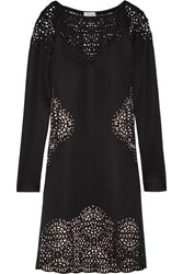 Temperley London Sami Laser Cut Scuba Dress Black