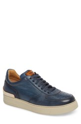 Magnanni Vada Lo Lace Up Sneaker Blue Leather