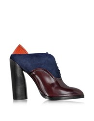 Jil Sander Multicolor Leather And Suede Lace Up Bootie