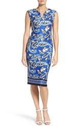 Eci Women's Paisley Scuba Sheath Dress