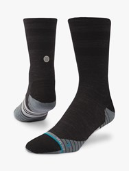 Stance Uncommon Solids Wool Crew Running Socks Charcoal