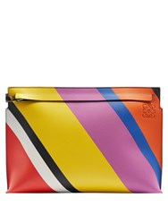 Loewe Striped Leather Pouch Multi