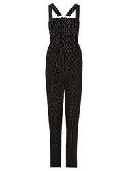 Sugarhill Boutique Freda Dungarees Black White