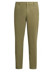 A.P.C. Low Standard Slim Leg Cotton Chino Trousers Khaki