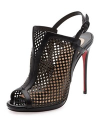 Christian Louboutin Escriminette Perforated 120Mm Red Sole Bootie Version Black