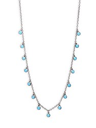 Saks Fifth Avenue Crystal And Sterling Silver Single Strand Necklace
