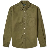 Gitman Brothers Vintage Button Down Overdyed Oxford Shirt Green
