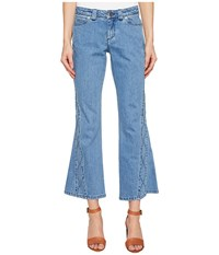See By Chloe Denim Pants W Embroidery Stoned Indigo Women's Clothing Blue