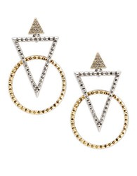 House Of Harlow Geometric Statement Earrings Gold