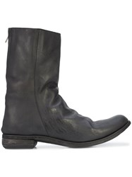 A Diciannoveventitre Double Zip Boots Horse Leather Black