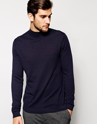 Asos Turtle Neck Jumper Navy