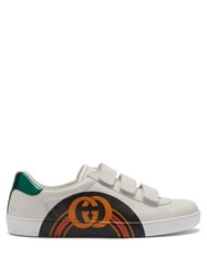 Gucci New Ace Gg Print Leather Trainers White Multi